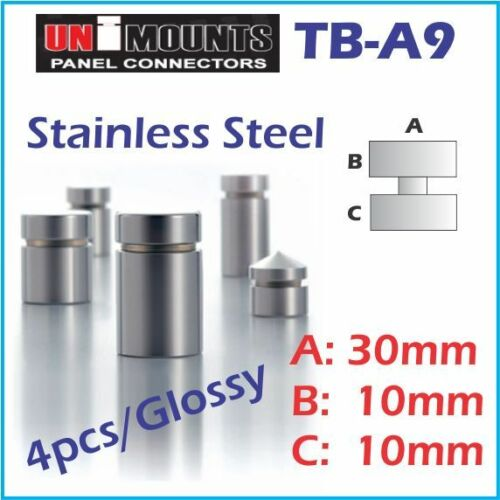 Silver Glossy Stand Off Screw//Panel Mounts//Panel Connector//4pcs//TB-A9