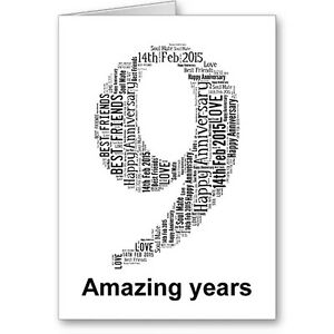 Personalised-Printed-Typographic-Ninth-9th-Anniversary-Card-Gift-Male-Female