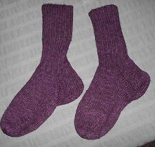 Beerenfarbene Socken mit Alpaka, Handarbeit  in Gr. 38-39 *****NEU*****