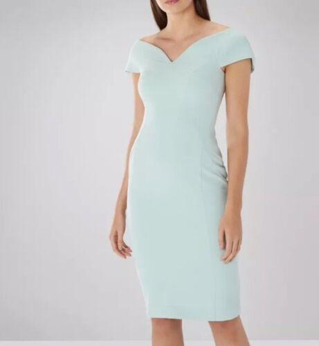 nouvelle menthe 14 côte Bardot taille UK robe Superbe Jessa droite SUdqnwUt5
