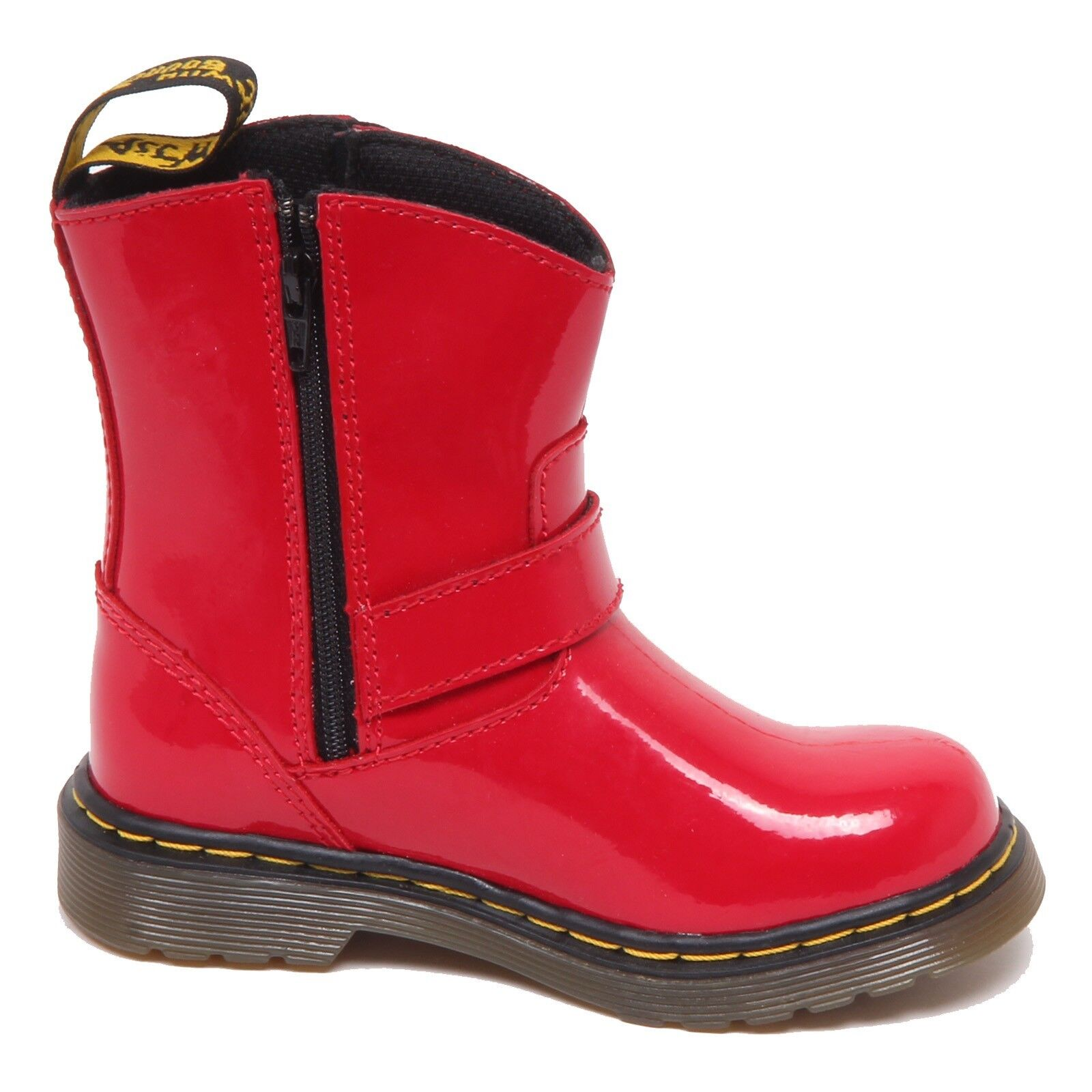 F3772 (NO (NO (NO BOX) stivale bimba girl DR. MARTENS scratched spotted red boot shoe 0b5126