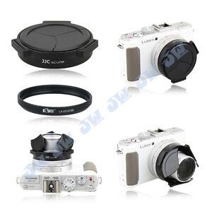 Black-Auto-Lens-Cap-37mm-Filter-Adapter-for-Panasonic-Lumix-LX7-amp-Leica-D-Lux6