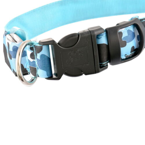 Fashion Adjustable Dog Puppy Pet LED Neck Strap Camouflage Flashing Collar
