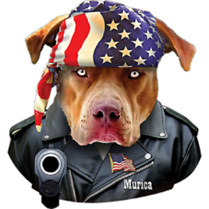 Murica Pit Bull Size Youth Medium to 6 X Large T Shirt Pick Your Size