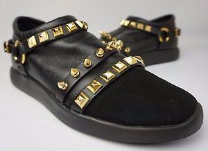 0a7ebaf804482 Giuseppe Zanotti Black Nero Studded Men's Slip On Sneakers Shoes ...