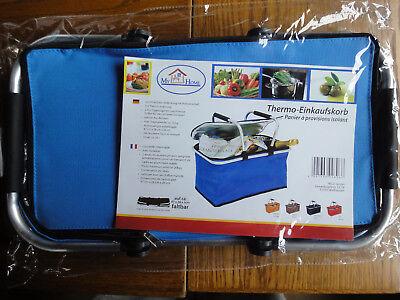 ***** Thermo - Einkaufskorb My Home - Faltbar - Blau - Tasche - Kühltasche ***** Taille Und Sehnen StäRken