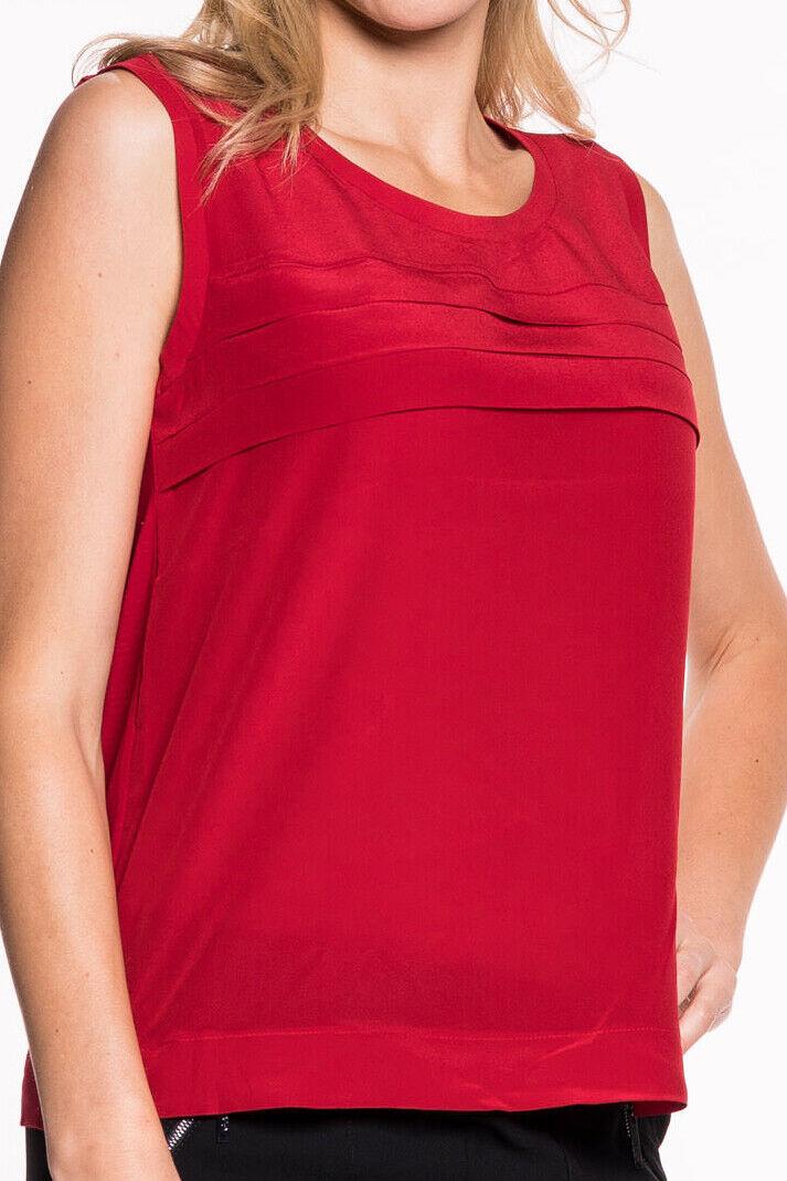 Liu Jo - Moda Top Damen Oberteil Shirt rot Rundhalsausschnitt Designer Neu
