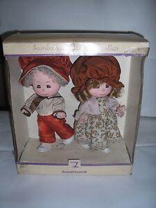 Coppia-Bambole-bambolotti-dools-Zanini-amp-Zambelli-Vintage-anno-1980