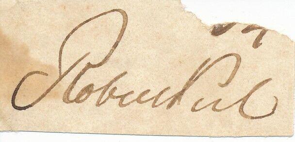 Robert Peel - Signature of the 19th Century British Prime Minister
