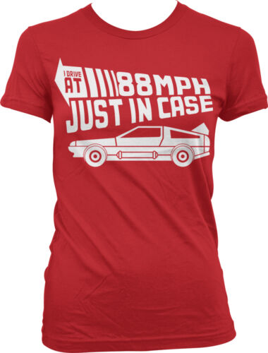 I Drive 88 MPH Just In Case Time Travel Car Speed Back 50s Fast Juniors T-Shirt