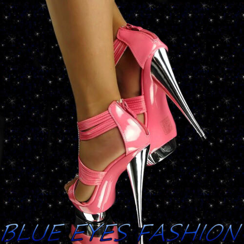 Heels Sexy Disco Luxus Plateau High Abendschuhe Glitzer Pink Partyschuhe dqwt6BY