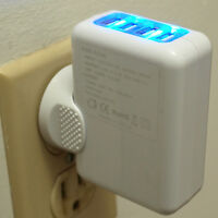 2.1A 4 Port USB Portable Home/Travel Wall AC Charger for iPad, iPhone, Samsung
