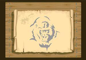 Gorilla-Face-350-Stencil-micron-Mylar-not-thin-stuff-Gor01