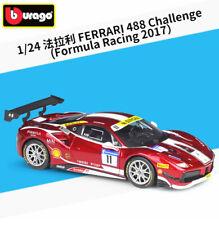 burago  *NEW* Ferrari 488 Challenge #11 Formula Racing 2017   1:24 BBurago