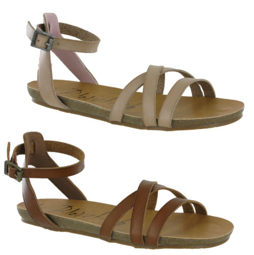 Blowfish Galie Vegan Flats Womens Open Toe Fashion Sandals Casual Ladies Shoes
