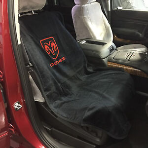 dodge ram car seat towel slip on cotton terry cloth black seat cover 47 x 24 ebay. Black Bedroom Furniture Sets. Home Design Ideas