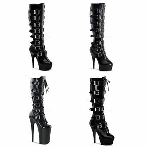 59859f1216a Image is loading Pleaser-DELIGHT-INFINITY-KISS-2049-Sexy-Platform-Knee-