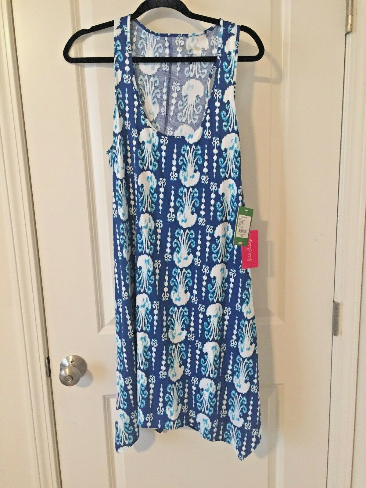 NWT Lilly Pulitzer Indigo Get in Line Melle Dress Large L