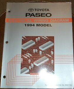 1994 Toyota Paseo Electrical Wiring Diagrams Manual Like New Mint Free Shipping Ebay