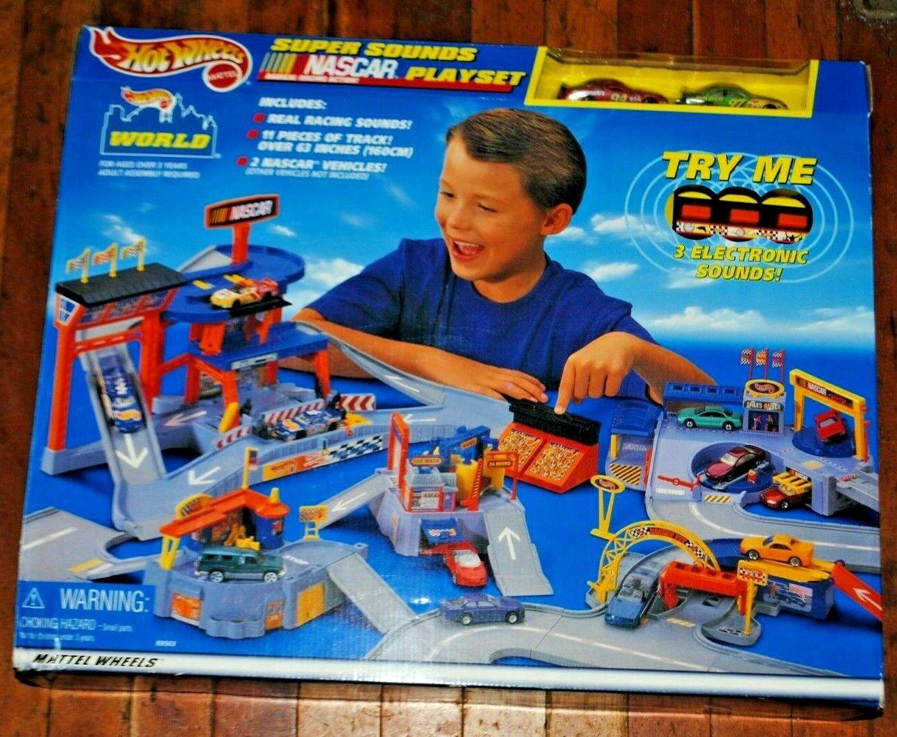 New Mattel Hot Wheels 1999 Super Sounds Nascar Playset