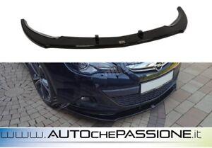 Splitter-Spoiler-anteriore-per-Opel-Astra-J-GTC-2009-gt-NERO-LUCIDO