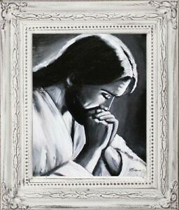 Religion-Jesus-Christ-Handmade-Oil-Painting-Picture-Oil-Frame-Pictures-G06134
