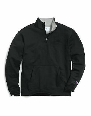 Champion Sweatshirt Herren S Navy 14 Zip Pullover PowerBlend Jacke gebürsteter Innenseite   eBay