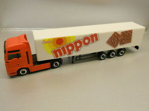 Herpa-451260-MAN-TGA-XXL-Box-Semitrailer-034-Nippon-034-1-87-H0-Scale