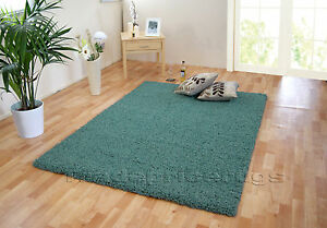 SMALL-EXTRA-LARGE-DUCK-EGG-BLUE-THICK-DENSE-PILE-SOFT-MODERN-SHAGGY-RUGS