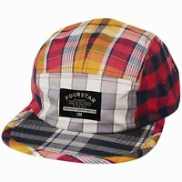 Fourstar Patchwork Camper Mens Adjustable Hat Multicolor Plaid