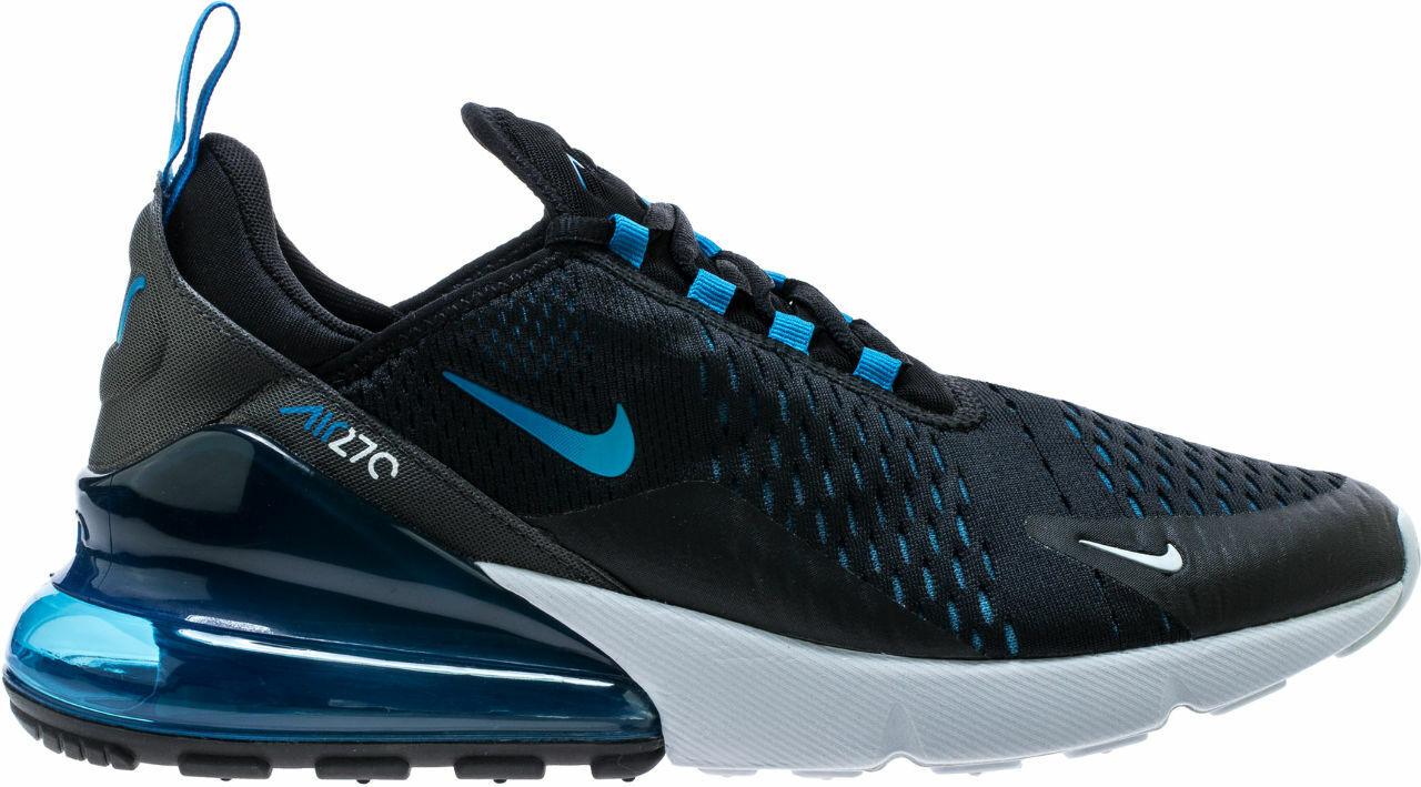 Nike Air Max 270 Black Black Black Photo bluee-bluee Fury (AH8050 019) ee5592
