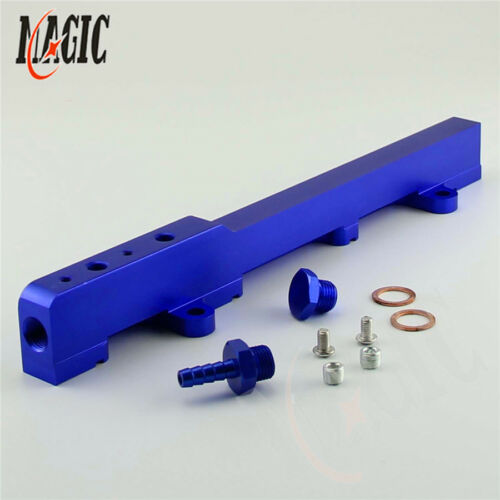 Blue Fuel Rail Fuel Injector Rail Kit for Honda Acura Rsx Integra DC5 Type R K20
