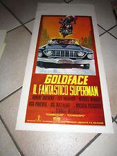GOLDFACE IL FANTASTICO SUPERMAN LOCANDINA STANLEY MITCHELL AUTO CAR 1967