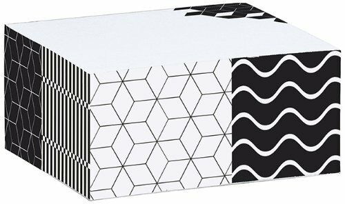 Papier und Feder Sticky Notizblock black and white Muster Moses 80561