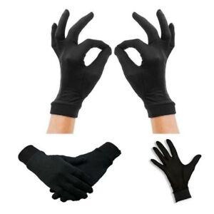 Thin-Silk-liner-inner-Gloves-Ski-motorcycle-skiing-walking-cycling-Thermal-black