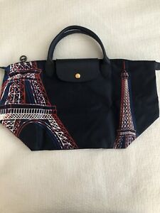 Details about Longchamp Made In France Le Pliage Eiffel Tower Limited  Edition Tote Bag Navy