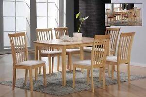 massivholz rubberwood stuhlgruppe esstisch 6 st hle k chenst hle tisch set ebay. Black Bedroom Furniture Sets. Home Design Ideas