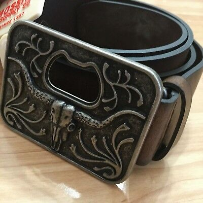 Antique Matador Longhorn Belt Buckle Bull Bullfight Western Cowboy Men Boy