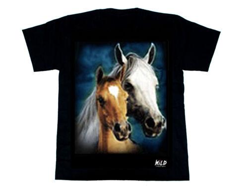 100/% coton Scarlet bijoux-wild t-shirt 2 côté imprimé made by wild NEUF
