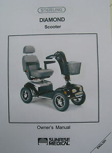 sterling diamond scooter user owner instruction manual guide ebay Rally 3 Wheel Scooter Owner's Manual Pride Victory Scooter Parts