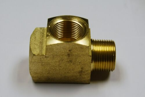 "QTY Brass Fittings: Run Tee Female Pipe Size 3//4/"" Male Pipe Size 3//4/"" 5"