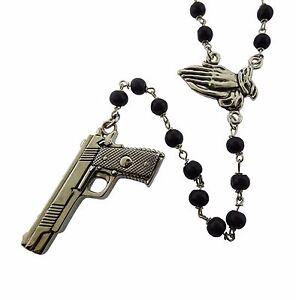 gun praying hands rosary rock rebel original logo metal gothic