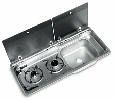 Dometic SMEV 9722 2 Burner Narrow Combination Unit with Glass Lid & Tap Hole- RH