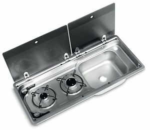 Dometic-SMEV-9722-2-Burner-Narrow-Combination-Unit-with-Glass-Lid-amp-Tap-Hole-RH