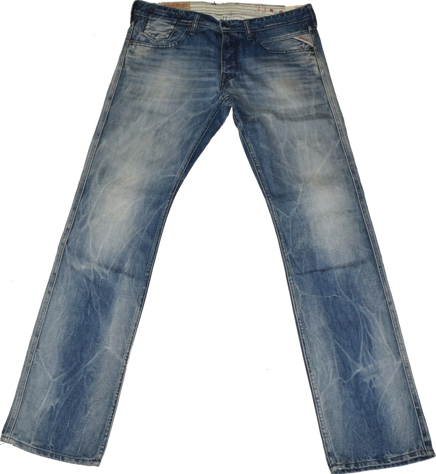 REPLAY Jeans Tracco ma 912 w33 l34 vintage used Dirty LOOK NUOVO