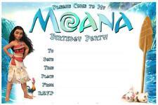 1 X Moana Blank Fill In DIY Girls Birthday Invitations Magnets