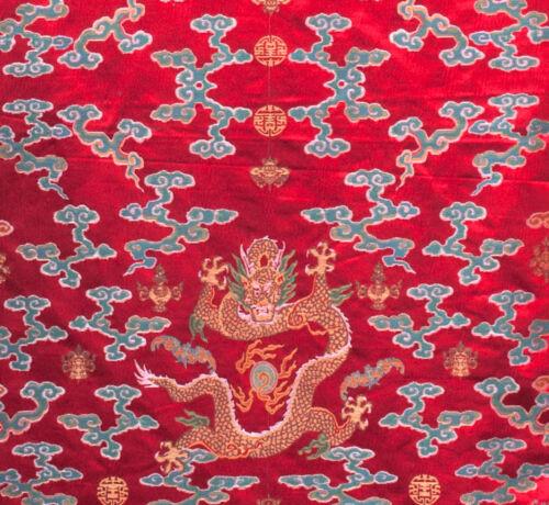 "104/"" TAPESTRY STYLE SILK DAMASK JACQUARD BROCADE CHINA DRAGON ROBE FABRIC ="