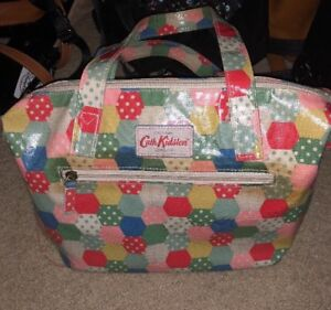 Image Is Loading Authentic Cath Kidston Coated Canvas Boston Bag Purse