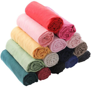 Ladies Women's Long Candy Colors Soft Cotton Scarf Wrap Shawl ScarvesFashionHI