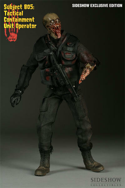 The Dead Subject 805 Tactical Containment Operator Sideshow Exclusive Figure NEW